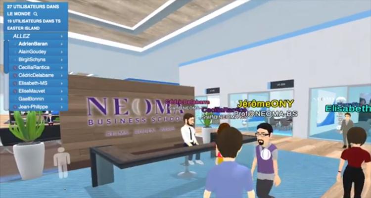 NEOMA Business School ouvre le premier campus numérique en Europe en partenariat avec Laval Virtual