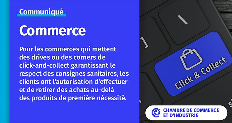 Consommateurs : pensez au retrait de commandes en magasin !