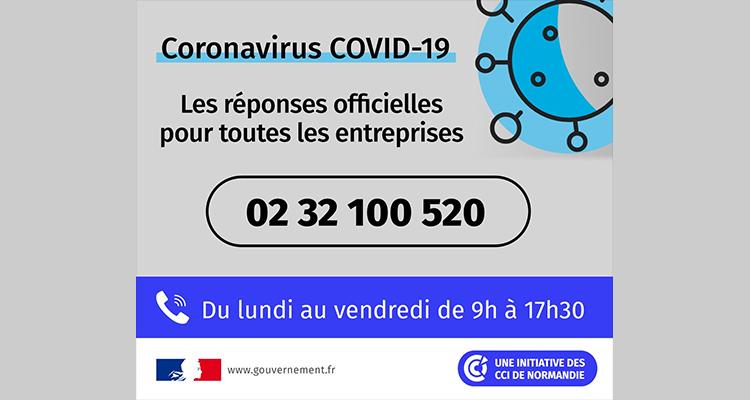 COVID-19 – Numéro de téléphone unique : les CCI de Normandie se mobilisent