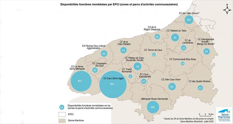 Etat des lieux du foncier en zones d'activités en Seine-Maritime