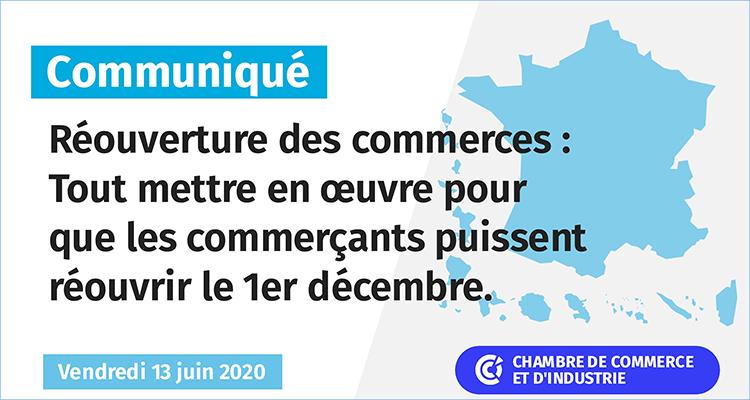 Commerce – Tout mettre en œuvre pour que les commerçants puissent réouvrir le 1er décembre !