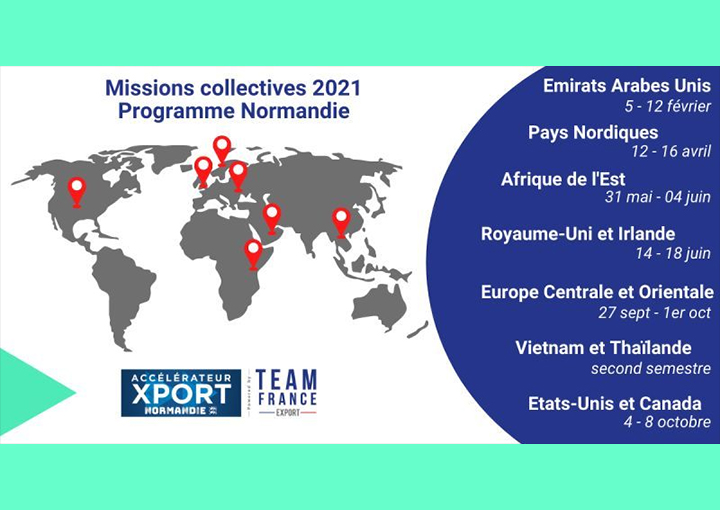Les missions collectives 2021 TeamFranceExport