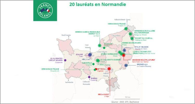 Les 20 premiers lauréats normands des appels à projets de soutien à l'investissement industriel