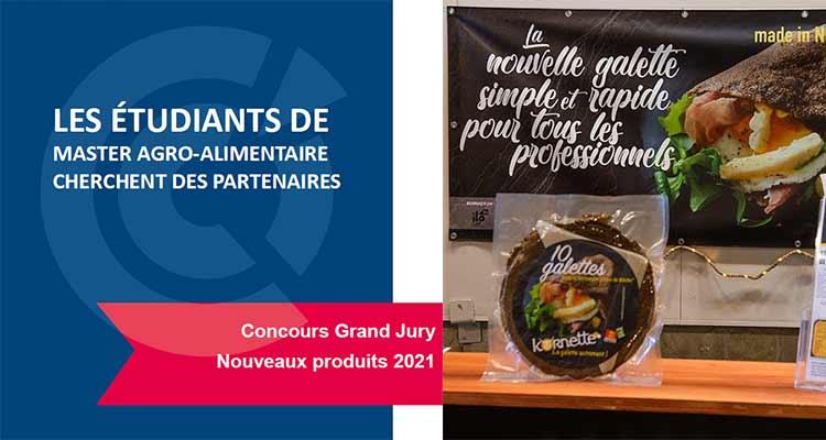 Les étudiants du Master Agro-alimentaire de Saint Lô cherchent des partenaires pour le concours Grand Jury Nouveaux Produits 2021.