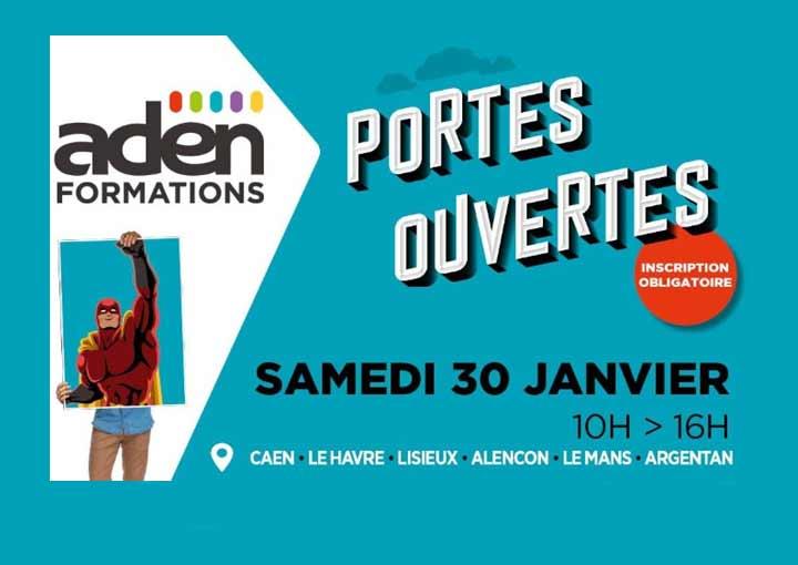Portes ouvertes ADEN Formations, le samedi 30 janvier 2021