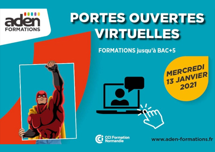 ADEN Formations organise, le mercredi 13 janvier après-midi, des portes ouvertes virtuelles.