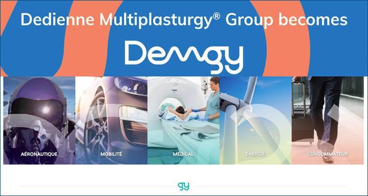 Dedienne Multiplasturgy® Group change de nom et devient DEMGY !
