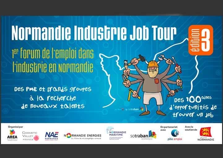Normandie Industrie Job Tour : 1er forum de l'emploi dans l'industrie en Normandie