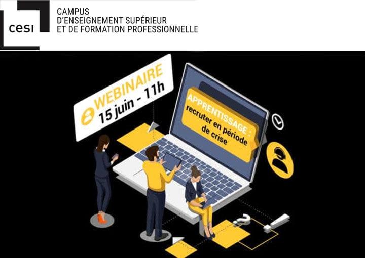 """Webinaire CESI et News Tank RH """"Apprentissage : recruter en période de crise"""""""