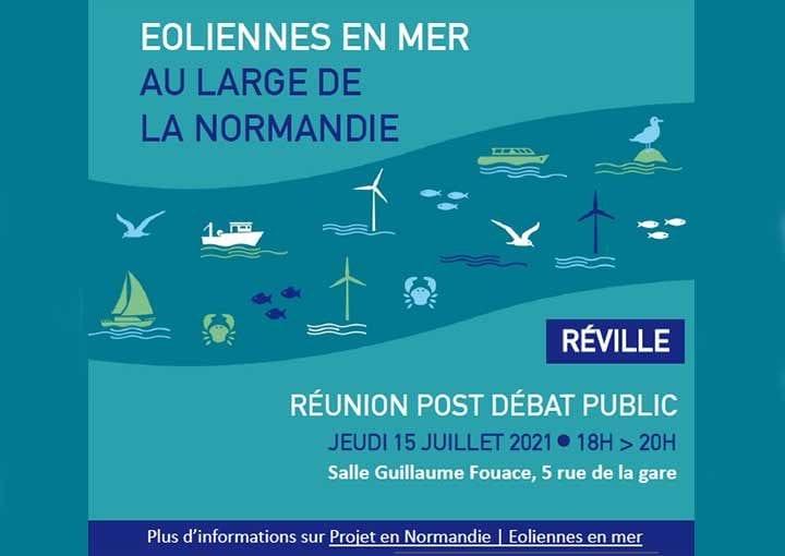 Eoliennes en Normandie : réunion post débat public