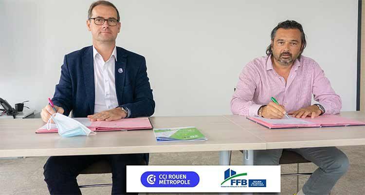 La CCI Rouen Métropole et la Fédération Française du Bâtiment Rouen Métropole et Territoires s'engagent pour la transmission d'entreprise