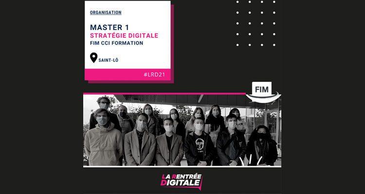 Les étudiants Web de FIM CCI Formation Normandie préparent la Rentrée Digitale