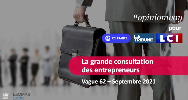 La grande consultation des entrepreneurs : Vague 62 – Septembre 2021